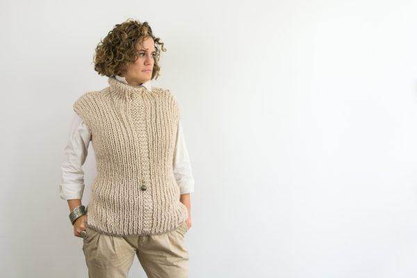 maglione senza maniche