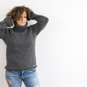Maglione invernale in lana e alpaca